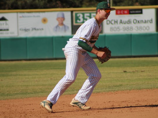Brian Guy is one of Moorpark High's top hitters and also a standout defensive player at shortstop.