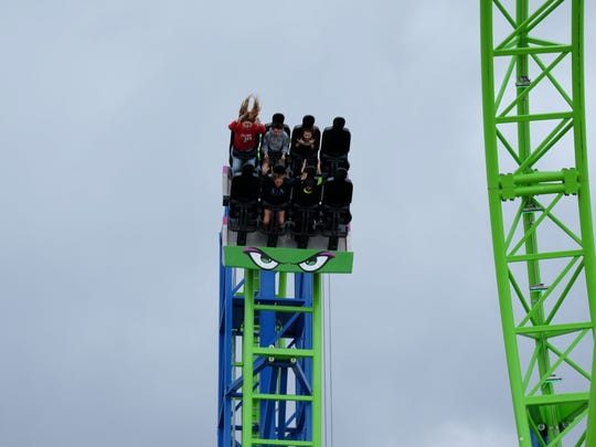 Casino Pier's new rollercoaster, Hydrus, was open for it's second day on Sunday.