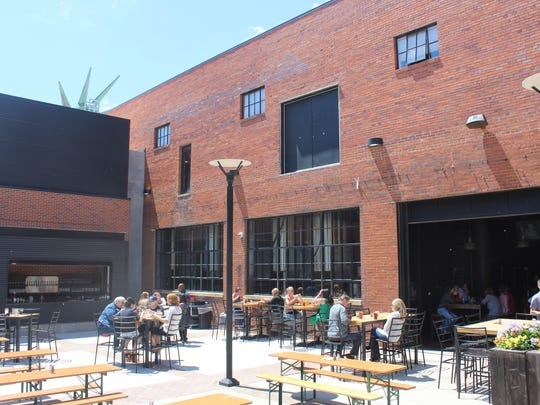 The patio at Exile Brewing Company.