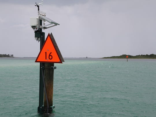IRLON uses Coast Guard channel markers with its permission to secure weather station and telemetry (above water) and sophisticated water quality sensors (below water).