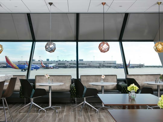 A look at one of Manchester Air Group's common-use Escape Lounge facilities at an airport.