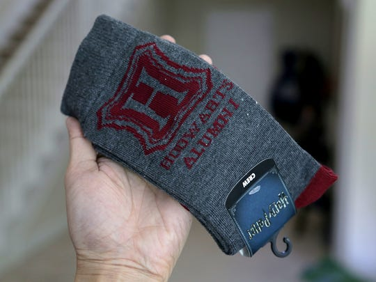 The Harry Potter Alumni crews socks from the June 2017 ThinkGeek Capsule.