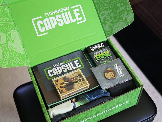 ThinkGeek's inaugural Capsule monthly subscription box.