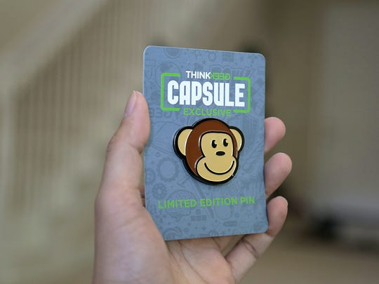 The Timmy the Monkey pin from the June 2017 ThinkGeek Capsule.