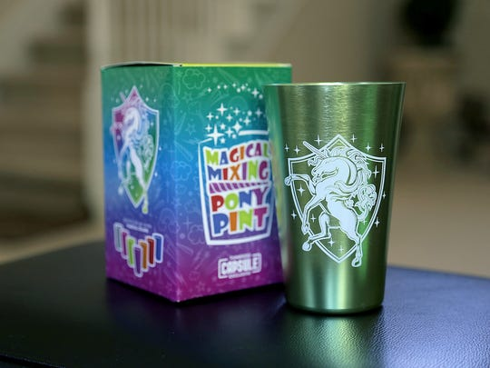 The Magical Mixing Pony Pint from the June 2017 ThinkGeek Capsule.
