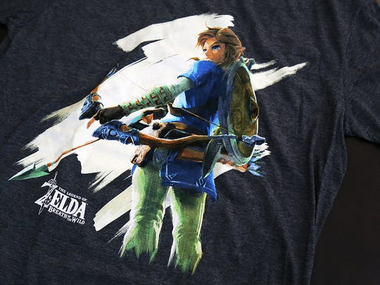 The Legend of Zelda: Breath of the Wild T-shirt from the June 2017 ThinkGeek Capsule features an illustration of Link.