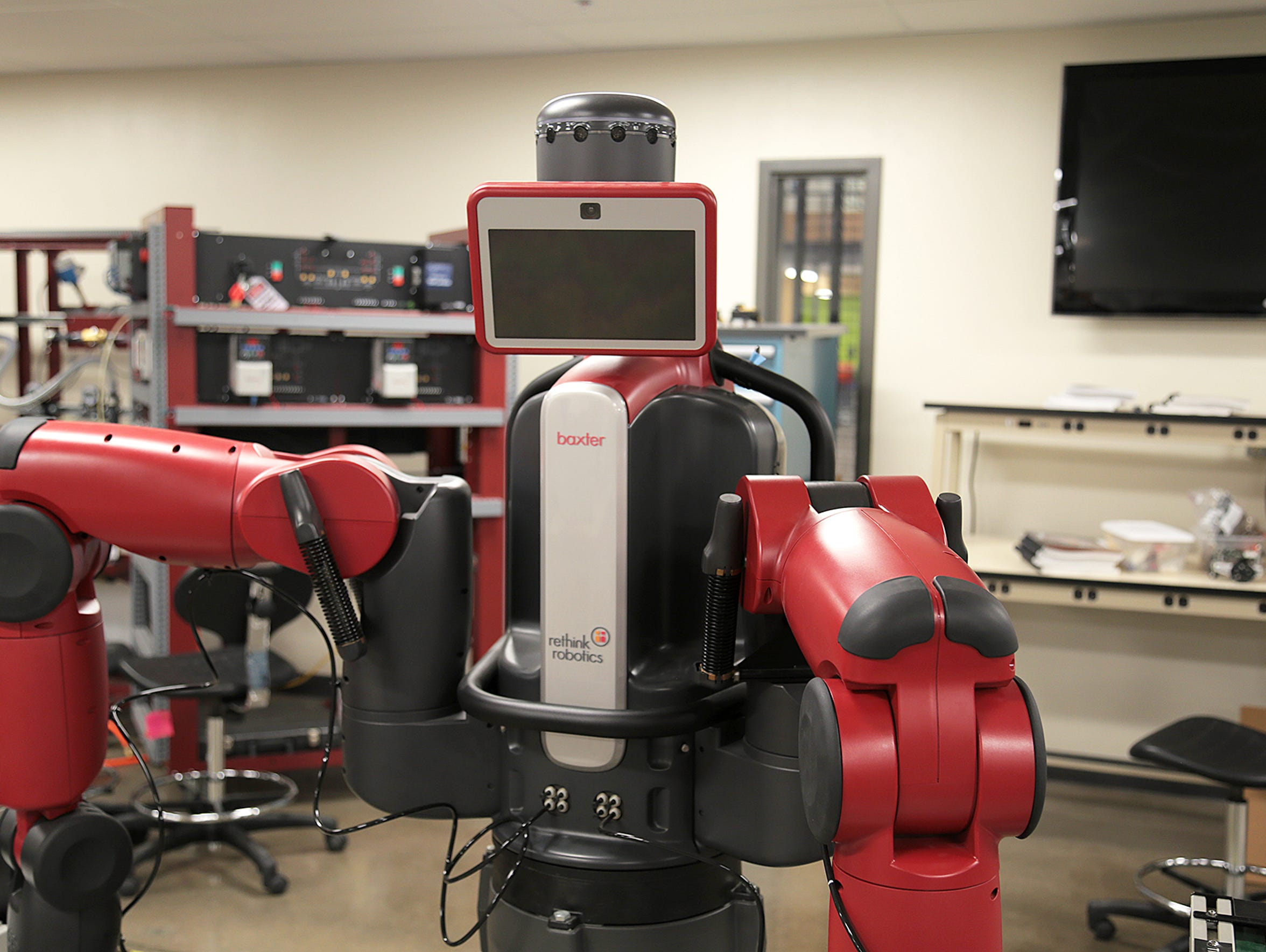 A learning robot at Truckee Meadows Community College's