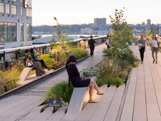 A summer day on The High Line on Manhattan's West side