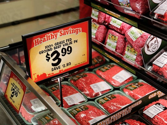 Grass fed ground beef was $3.99 a pound at the new Sprouts Farmers Market on South Meadows Parkway.