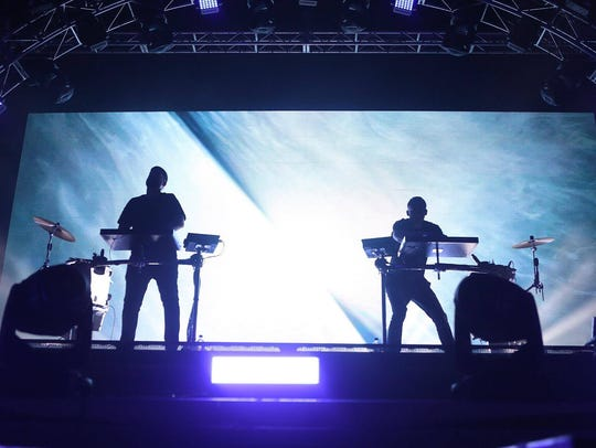 Odesza performs at the Lost Lake Festival in Phoenix,