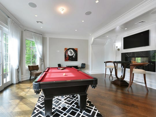 A Saddle River game room designed by Vanessa Deleon