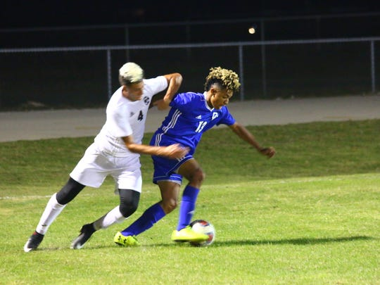 Scenes from Cape Coral's 2-0 win over Mariner in a boys soccer match on Jan. 12, 2018.