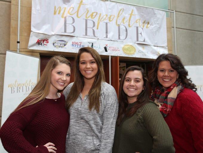 Grace Ferguson, Emily Balence, Miranda Hutchison, and