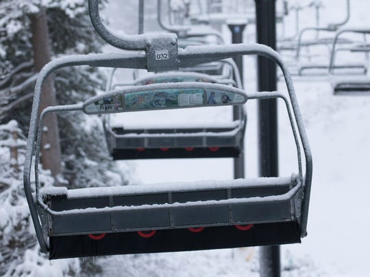 Ski lifts at Northstar California near Truckee were