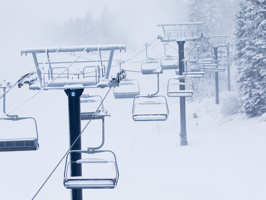 A file photo showing snow falling at Northstar California ski resort near Truckee on Jan. 19, 2018. The Placer County Sheriff's Office identified the body of a missing snowboarder, who was found dead at the resort earlier this week.