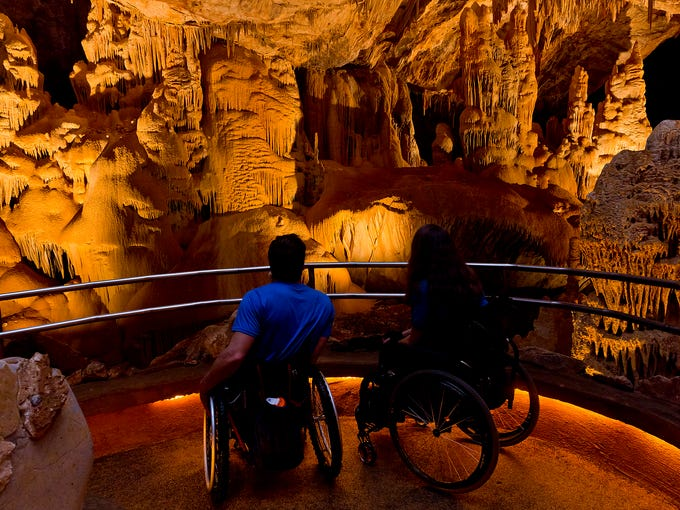 The paved path through Kartchner Caverns is wheelchair-accessible.