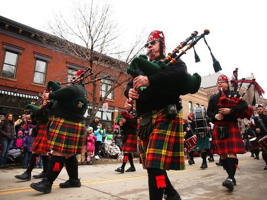 Members of the Khartum Pipe and Drums from Winnipeg,