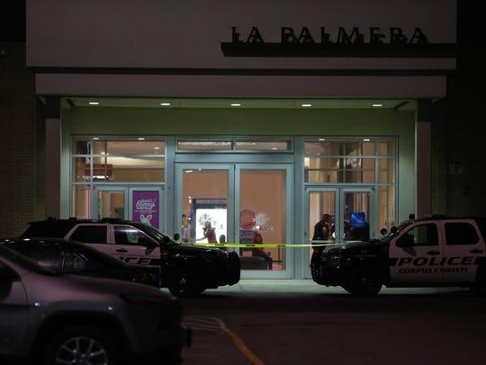 Entrances to La Palmera were sealed off with police