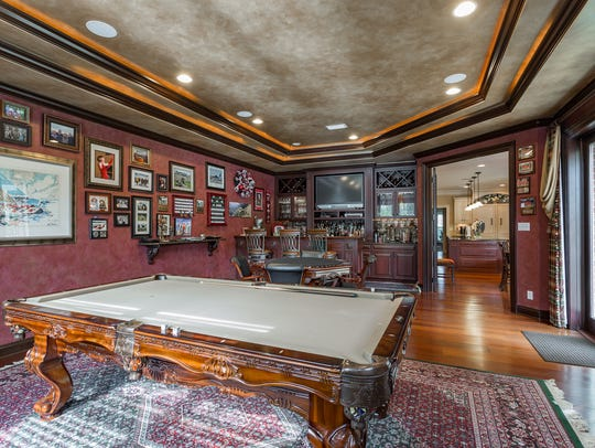 4945 Castayls Road, the game room/bar area is perfect