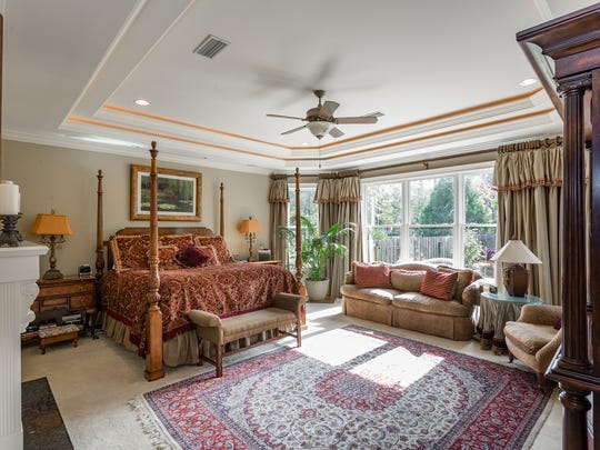 4945 Castayls Road, the spacious master bedroom.
