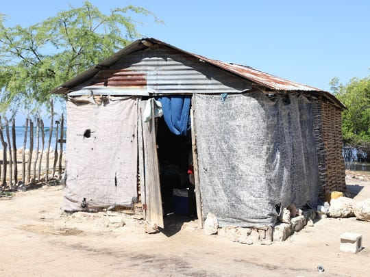 A home in one of the towns that Mission of Hope Haiti