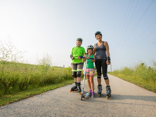 The Fond du Lac Loop isn't only for bicyclist. Self-propelled scooters, roller blades and skateboards are also allowed.