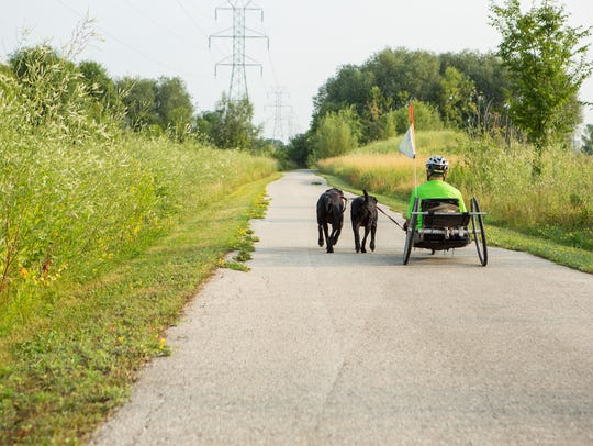 The Fond du Lac Loop runs around the city, taking users