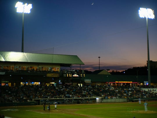 A view during a game between the Tennessee Smokies