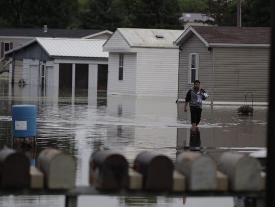 More than 50 homes were evacuated in Rock Valley, Iowa,