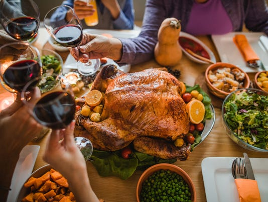 Cheers to this great Thanksgiving dinner!