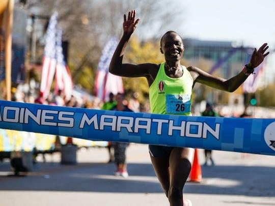 IMT Des Moines Marathon women's winner Joan Massah.