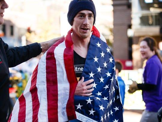 Half marathon winner Brogan Austin.