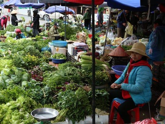 A farmer's market in the highlands of Vietnam — not