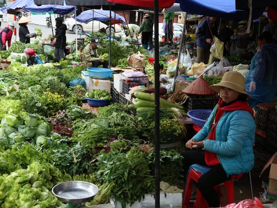 A farmer's market in the highlands of Vietnam — not