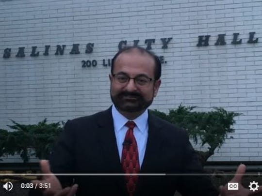 Amit Pandya announces that he is running for Mayor of Salinas on March 9.
