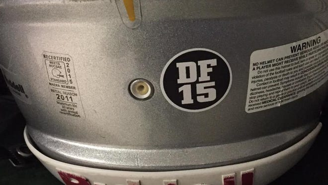 Calvary helmets will feature a sticker honoring former quarterback Daniel Fitzwater, who died at the age of 20.