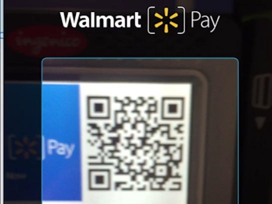 A screenshot of the Walmart Pay function in the Walmart