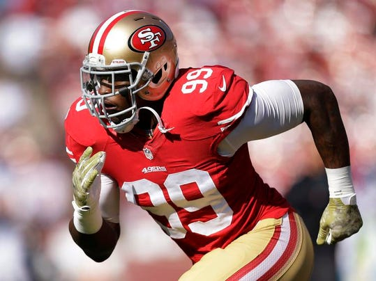 49ers Smith Arrested Football (2)