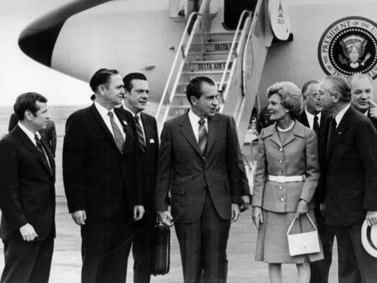 In a May 28, 1970, photograph, President Richard Nixon