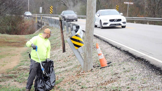 Spring Hill Public Works employees are tasked with keeping the roads clean in Spring Hill during the winter. The city offers a 'Cash for Trash' program for nonprofit organizations to clean the roads in exchange for money.