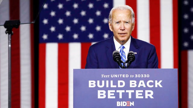 Democratic presidential candidate, former Vice President Joe Biden speaks during a campaign event on July 14 in Wilmington, Del.