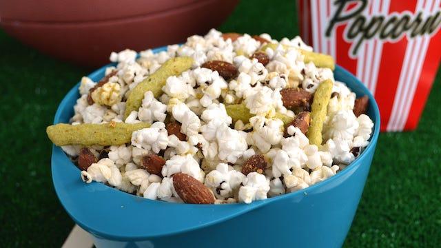 Garlic and Smoke Popcorn Mix is low in sodium.