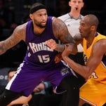 Los Angeles Lakers forward Kobe Bryant (24) guards