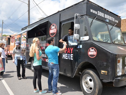 The Soul Burrito food truck at the Truck Trek held on West Cherry Street at Palmyra on Saturday. The Soul Burrito food truck at the Truck Trek held on West Cherry Street at Palmyra on Saturday, May 14, 2016.