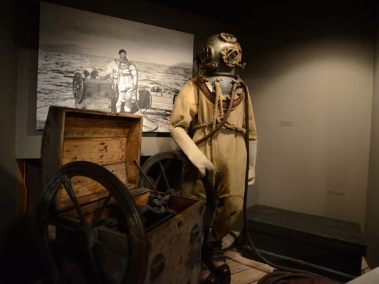 A diving suit from the 1940s is among the collection at the Columbia River Maritime Museum in Astoria.