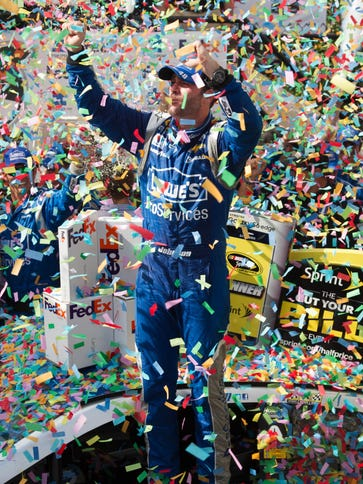 Jimmie Johnson has 74 career Cup wins, two behind Hall