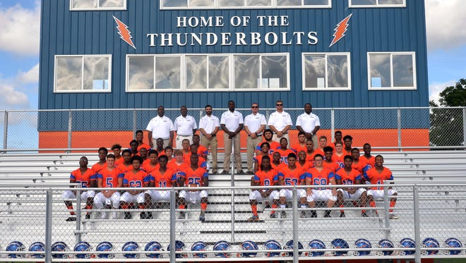 The 2016 Millville High School football team Wednesday, Aug. 17, 2016 in Millville.