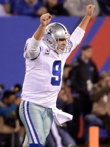 Tony Romo and the Cowboys are tied with the Eagles