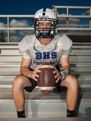 Pete LaBracio lost his father when he was 9 years old, but turned his attention to football soon after and immersed himself in coach Brennan Carney's Burlington High School football program —first as a ballboy and now as the team's quarterback.