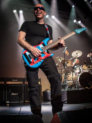 "Guitarist Joe Satriani is set to take his latest tour, ""From Surfing to Shockwave,"" to the Abraham Chavez Theatre on Tuesday."